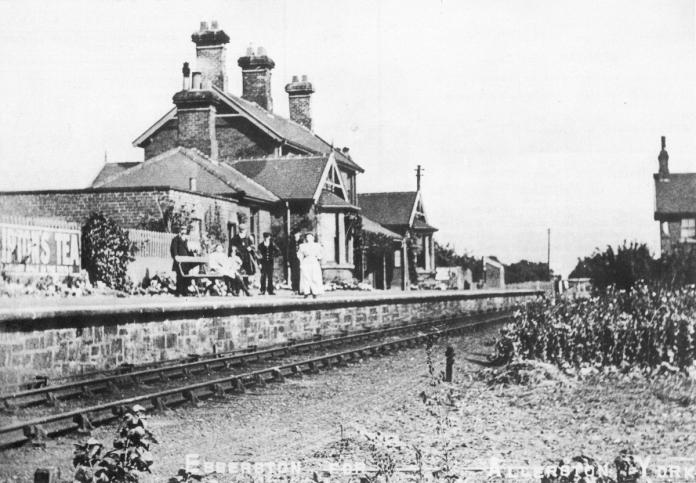 Ebberston Station looking towards Scarborough