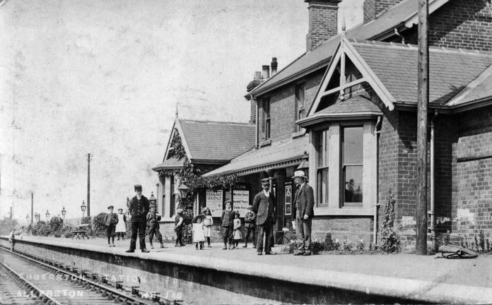 Ebberston Station around 1910