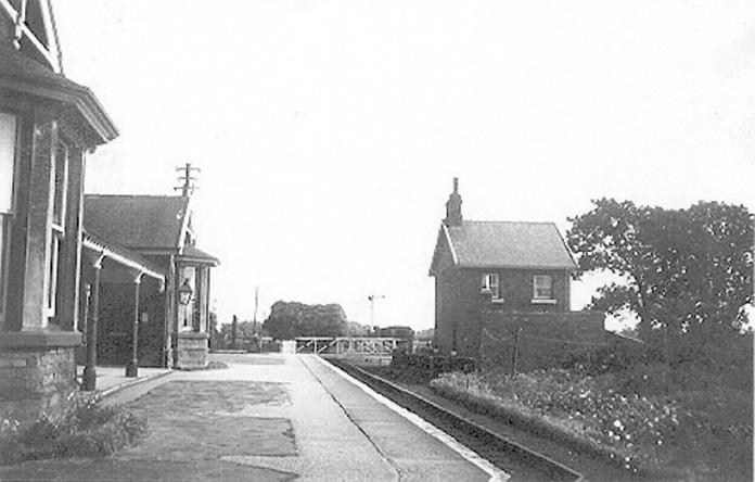 Ebberston Station looking east