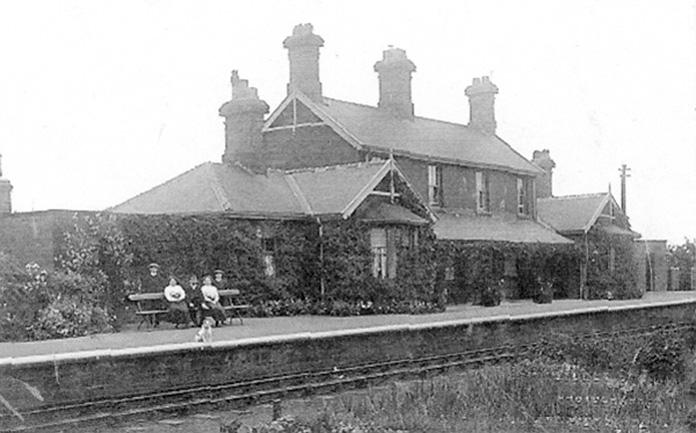 Ebberston Station clad with ivy