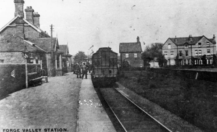 Forge Valley Station circa 1904