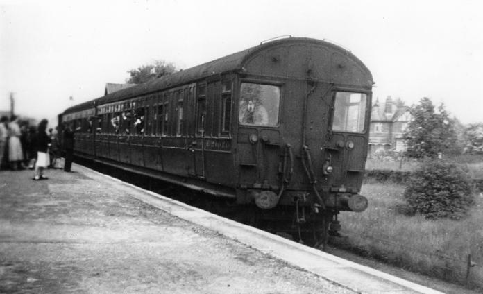 The last train to Pickering pauses at Forge Valley