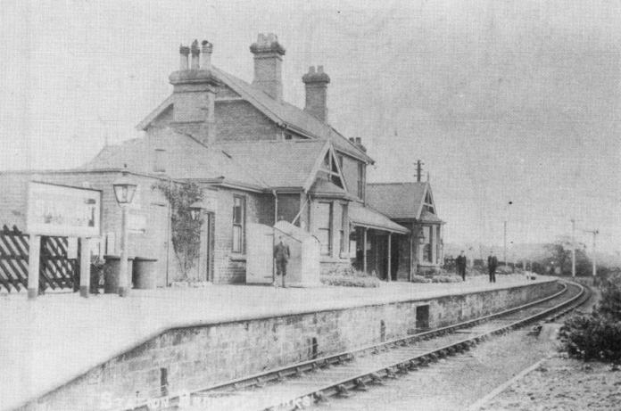 Sawdon Station looking east in about 1910