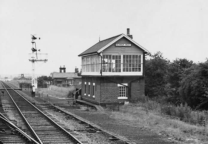 Seamer West Signal Box in July 1968